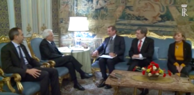 Il Presidente Mattarella riceve i rappresentanti dell'Alleanza Italiana per lo Sviluppo Sostenibile