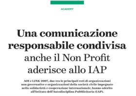 Una comunicazione responsabile condivisa. Anche il Non Profit aderisce allo IAP