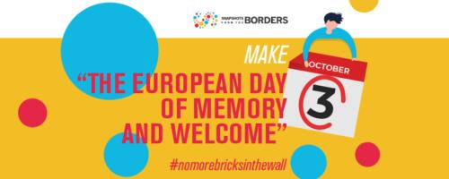 3 ottobre: Giornata Europea della Memoria e dell'Accoglienza
