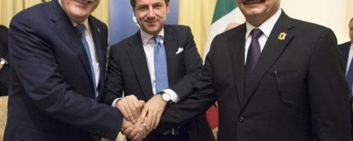 Al Serraj e Haftar a Roma per incontrare il premier Conte. Una buona notizia