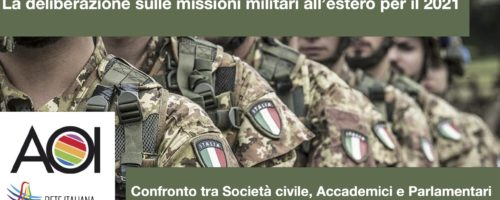 La deliberazione sulle missioni militari all'estero per il 2021