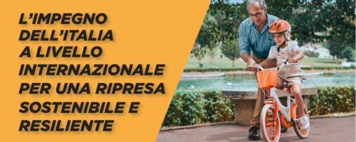 L'impegno dell'Italia a livello internazionale per una ripresa sostenibile e resiliente